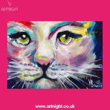 Artnight-paint-sip-evening-colourful-cat-1568125660